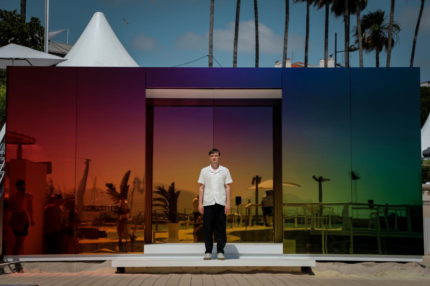 Germans Ermičs designed 'Where the Rainbow Ends' pavilion for Instagram in Cannes