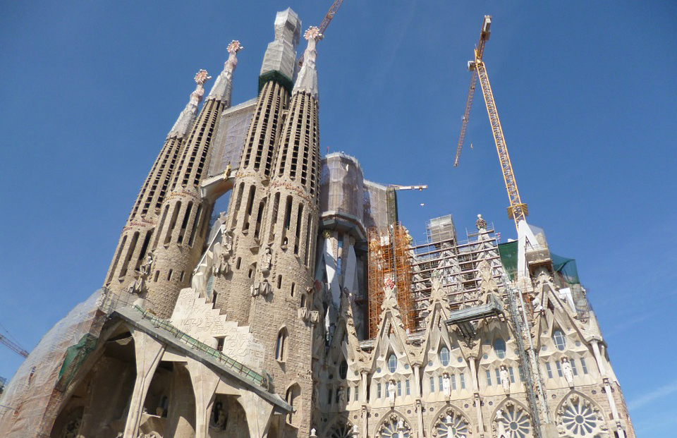 Construction work at La Sagrada Familia is scheduled for completion in 2026 – the 100th anniversary of Gaudi's death