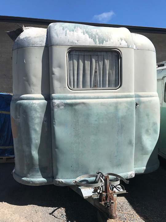 Vintage 1948 Palace Royale trailer is ready for restoration