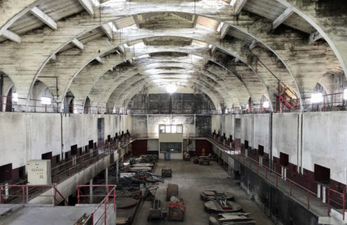 Vast 'Brutalist' warehouse lists for €550k in France's Saint-Emilion