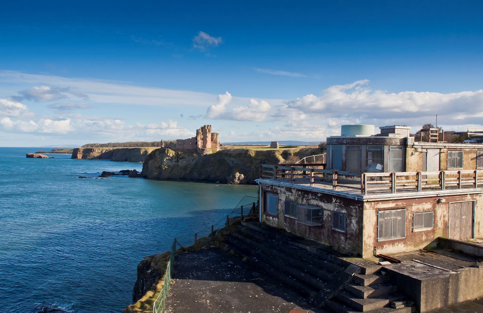 Gin Head - abandoned WWII naval base in Berwick-Upon-Tweed in Scotland