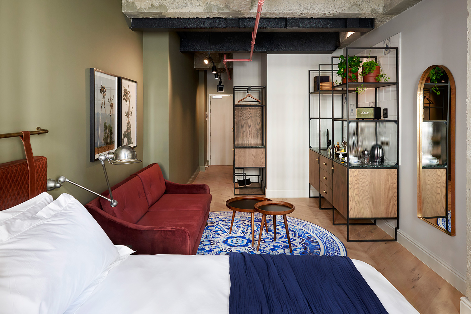 A studio suite inside Cape Town's Gorgeous George boutique hotel