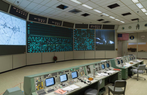 This replica Apollo Mission Control room is an interiors time capsule