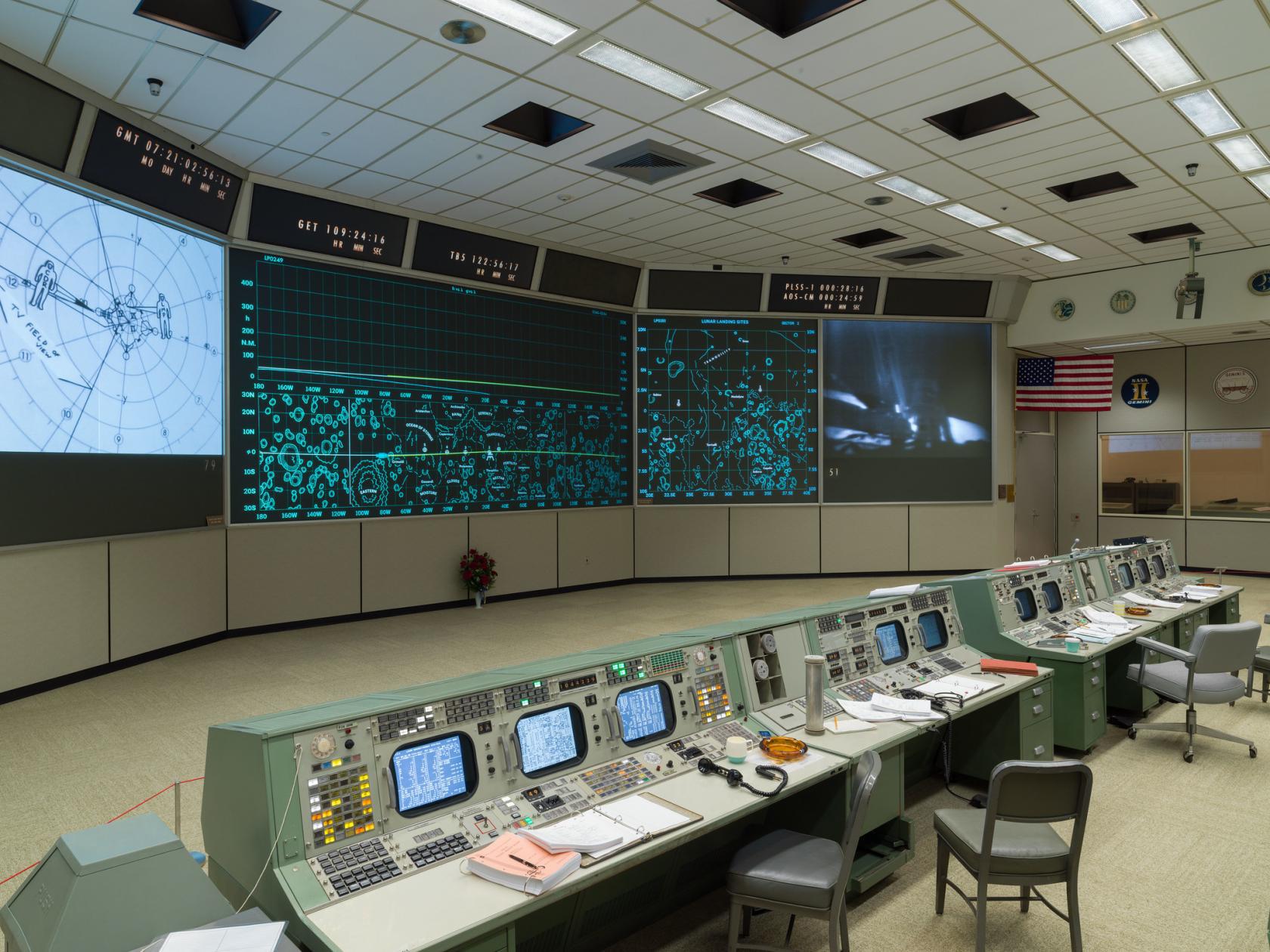 Replica of Apollo 11 Mission Control in Houston, Houston's Johnson Space Center