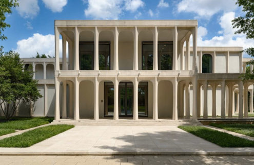 Philip Johnson's colonnaded Beck House is for sale in Texas