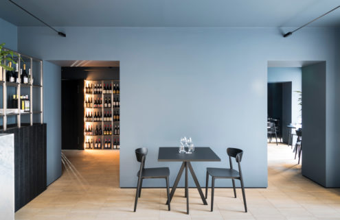 Grey walls look good again at this Palermo restaurant