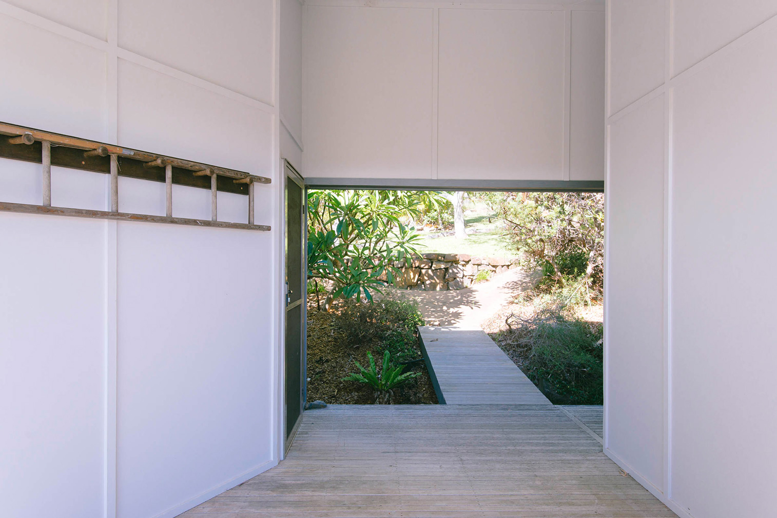 Way Way House, NSW: A covered breezeway connects the two volumes of the house