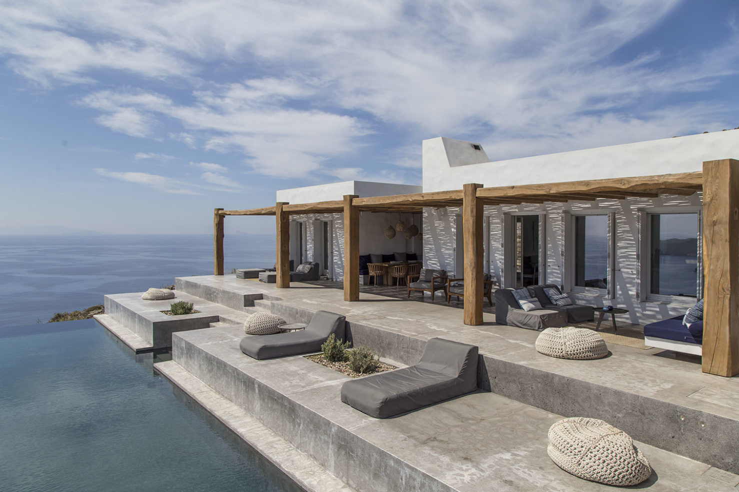 The Greek holiday home is available to rent exclusively via Off Grid Hideaways from €8,650 per week