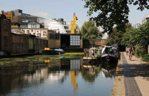 A rooftop 'theatre' has opened up next to the canal in East London