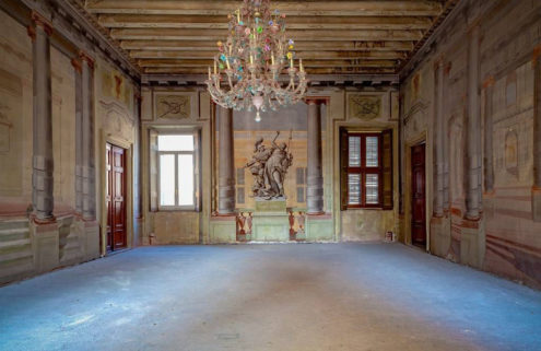 A historic fresco-filled palazzo is for sale in Verona