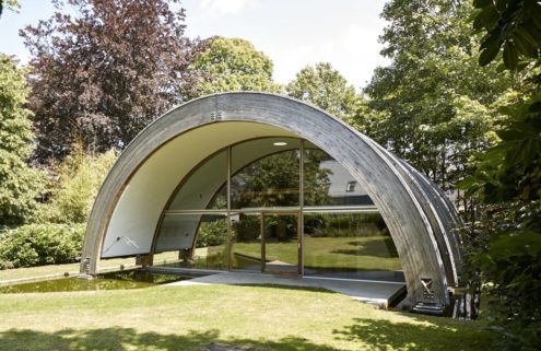 Modernist 'rainbow' home for sale in Belgium's East Flanders