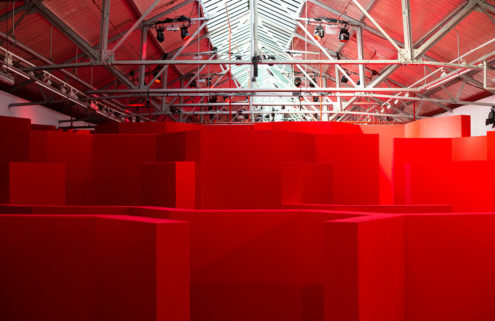 The Postbox Maze is a ticketed event that is open to the public until 13 September during London Fashion Week