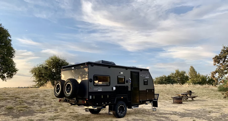 The collapsible Opus 15 camper trailer