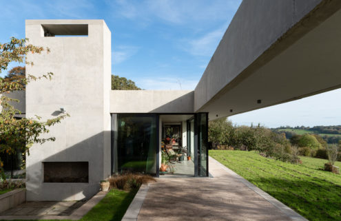 A RIBA-shortlisted brutalist home hits the market in the UK's Gloucestershire