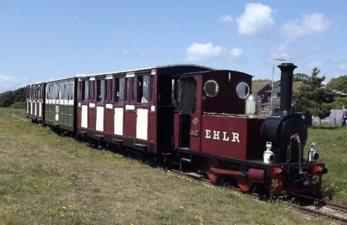 A seaside railway line is for sale on the south coast of England