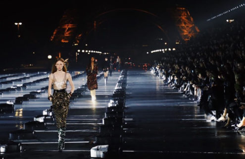 Saint Laurent turned the sky into a spectacle for its SS20 Paris show
