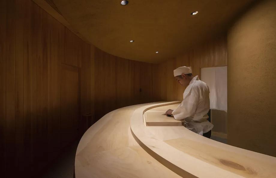 Fukuoka's tiny Takigawa sushi restaurant cocoons diners in wood