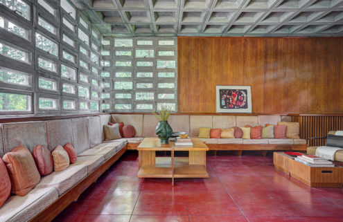 Rare concrete home by Frank Lloyd Wright hits the market in New Hampshire
