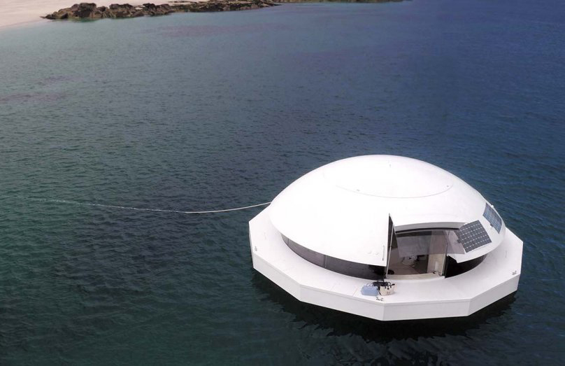 A James Bond-inspired floating home hits the market for $480
