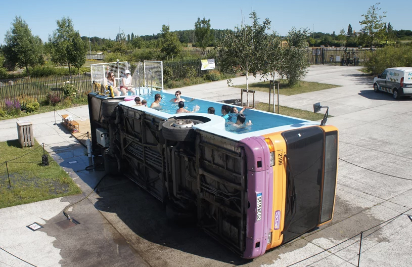 Take a dip in this swimming pool bus - The Spaces