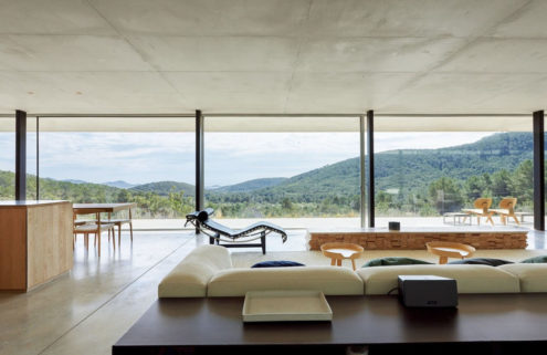 Ibizan villa by Bruno Erpicum combines concrete and dramatic clifftop views