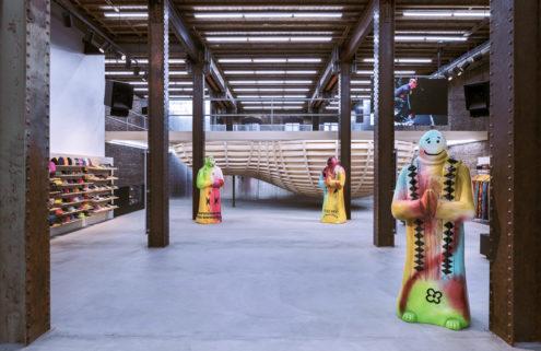 Peek inside Supreme's San Francisco store – which doubles as a skate park