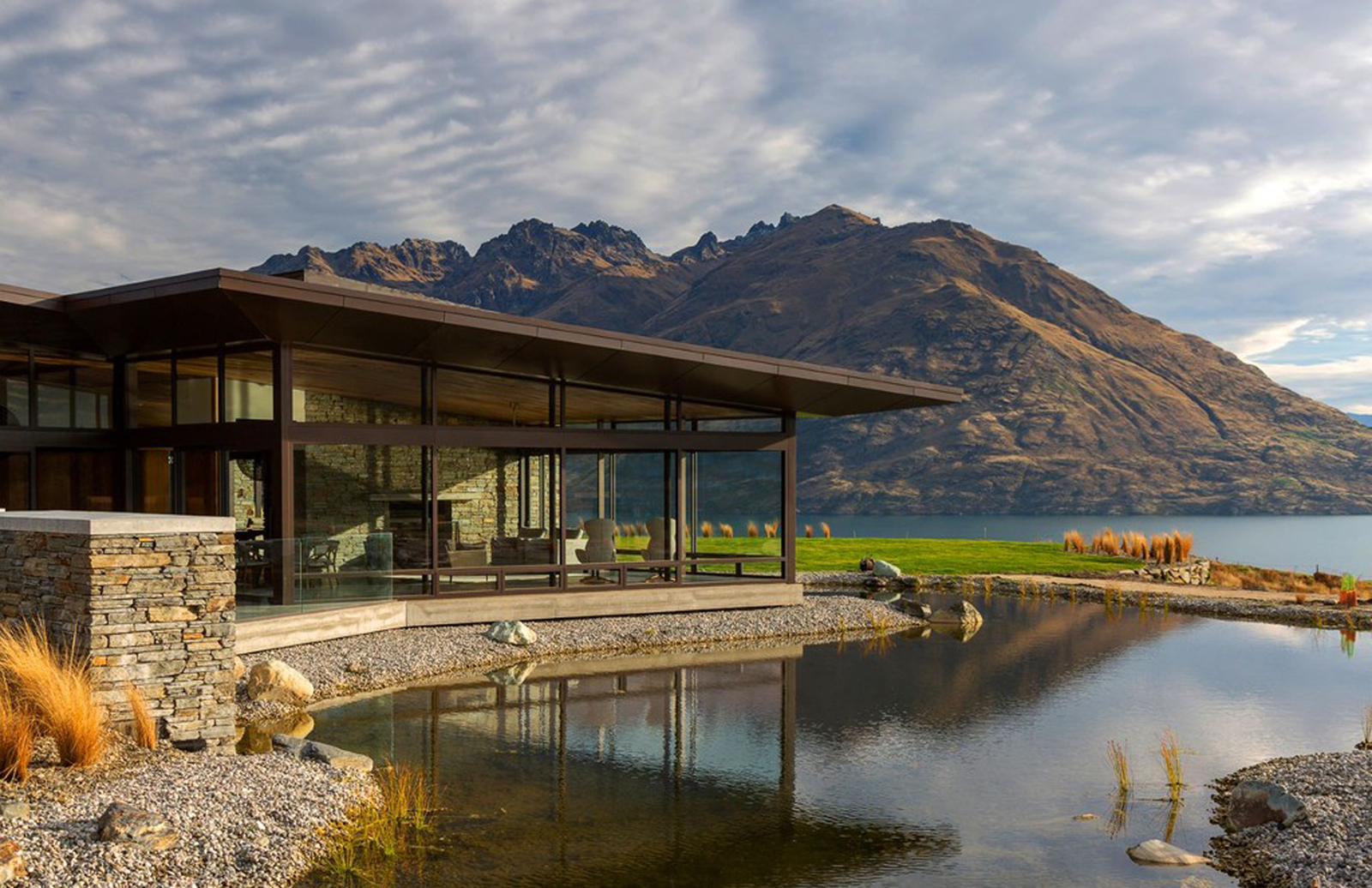 Hidden Island is designed to disappear into the landscape in New Zealand's Queenstown