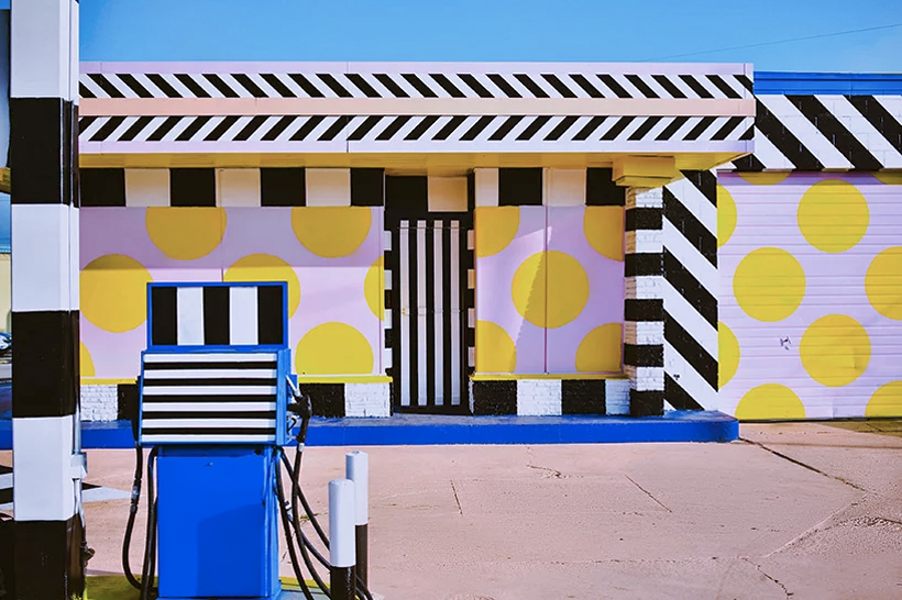 An Arkansas gas station gets a colourful makeover courtesy of Camille Walala