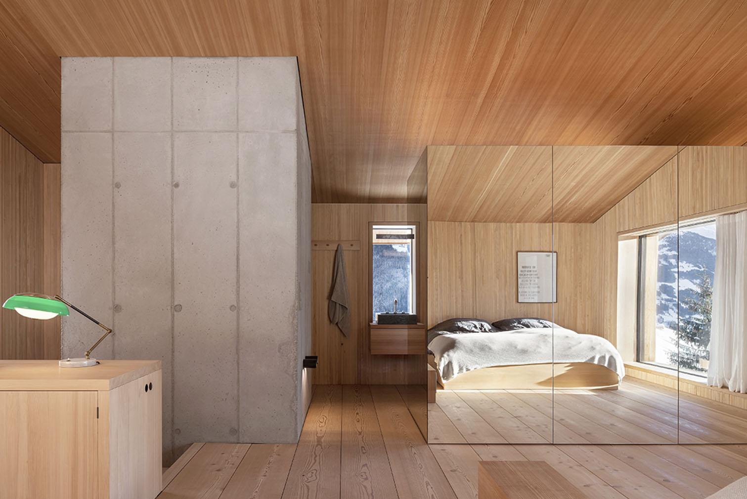 Interiors of Turmhaus Tirol in the Tyrolean Alps