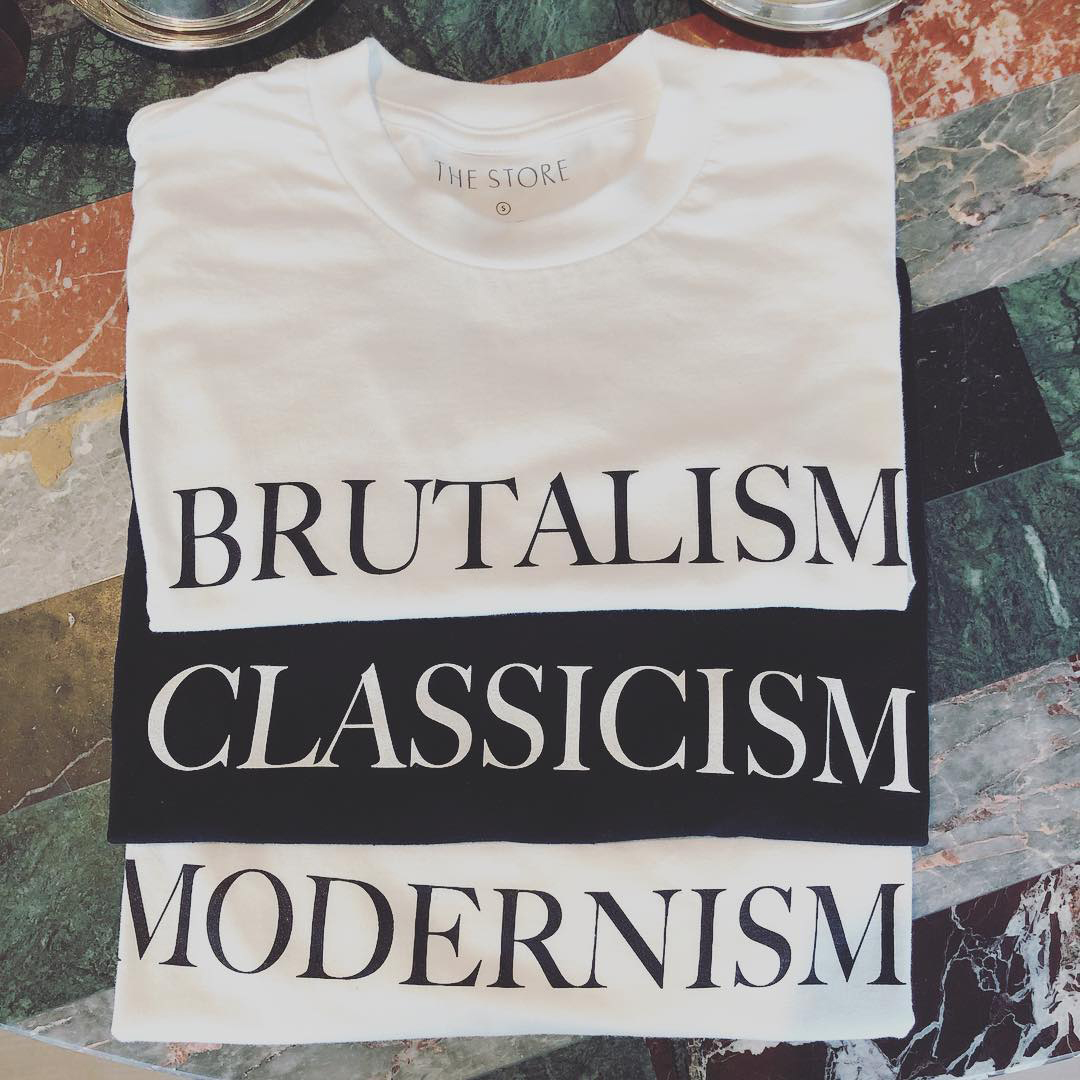 Architecture 'Ism' t-shirts by The Store X