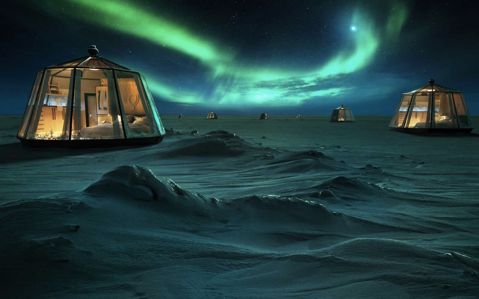 Arctic luxury igloo