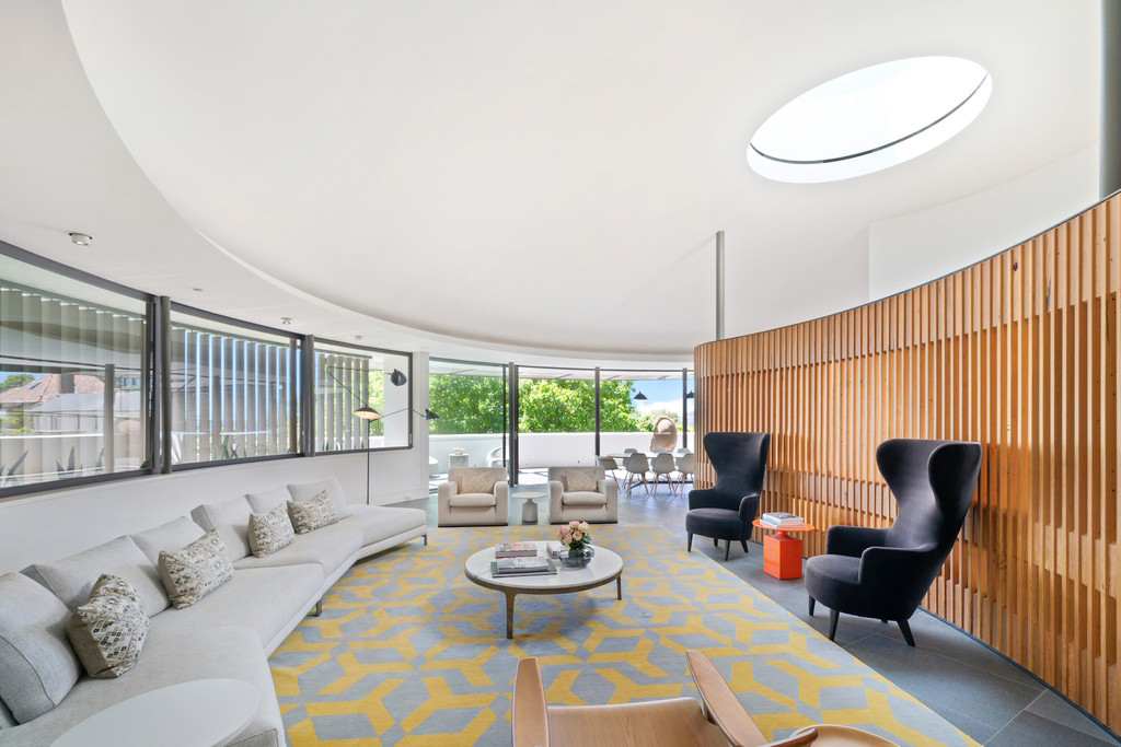 Circular Fred Fox home lists in Sydney following revamp