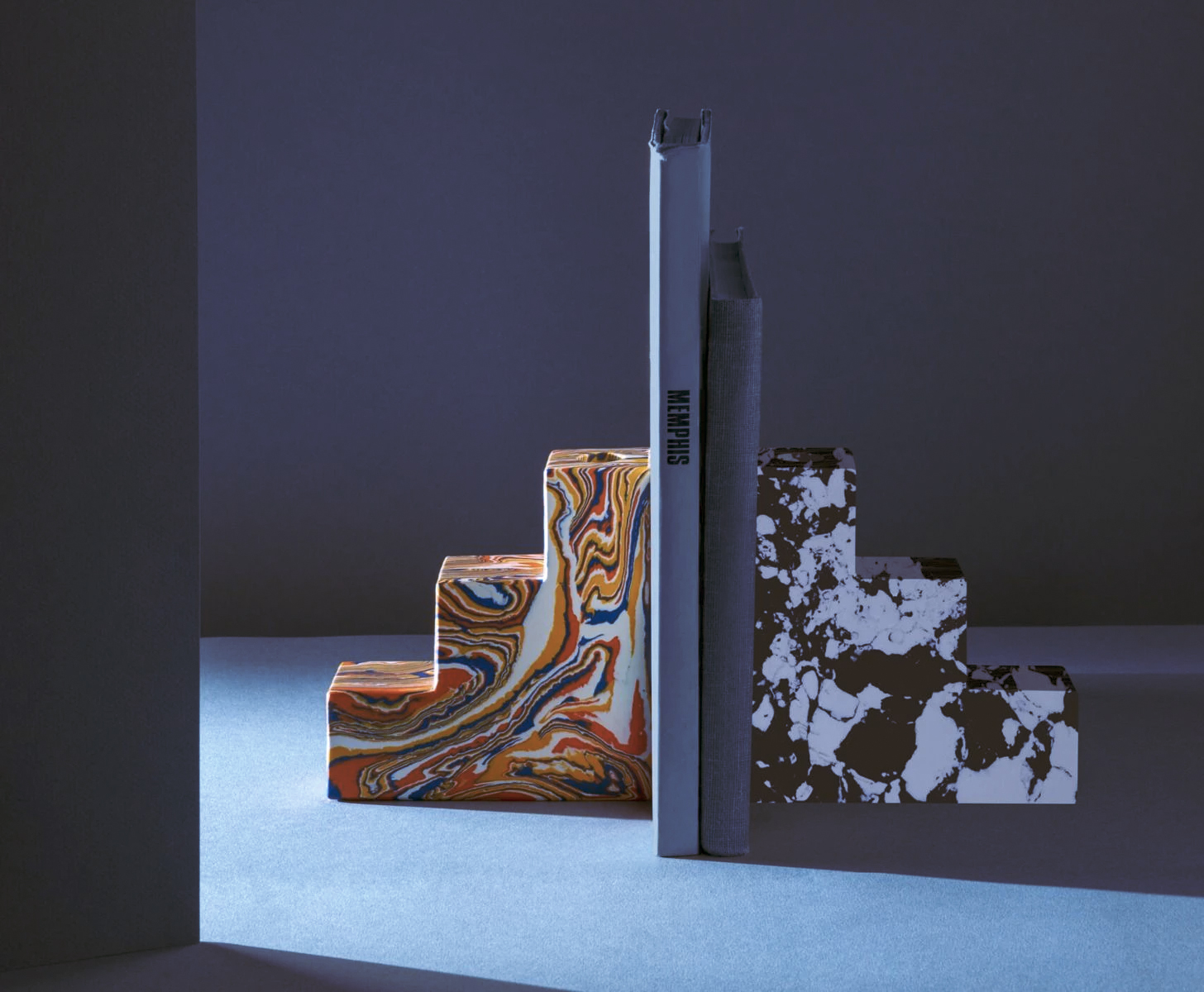Swirl bookends by Tom Dixon