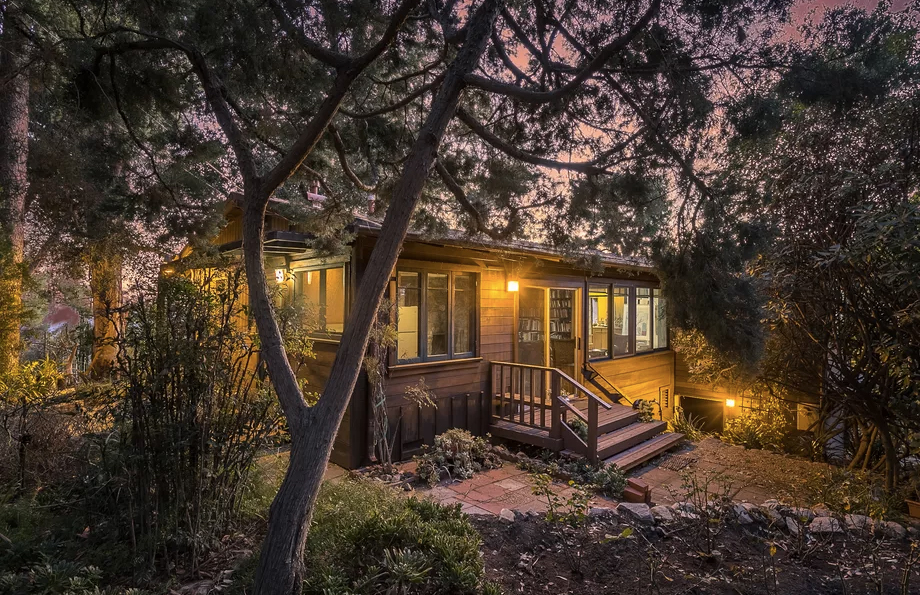 Rustic writer's cabin at the foothills of the San Gabriel mountains is for sale