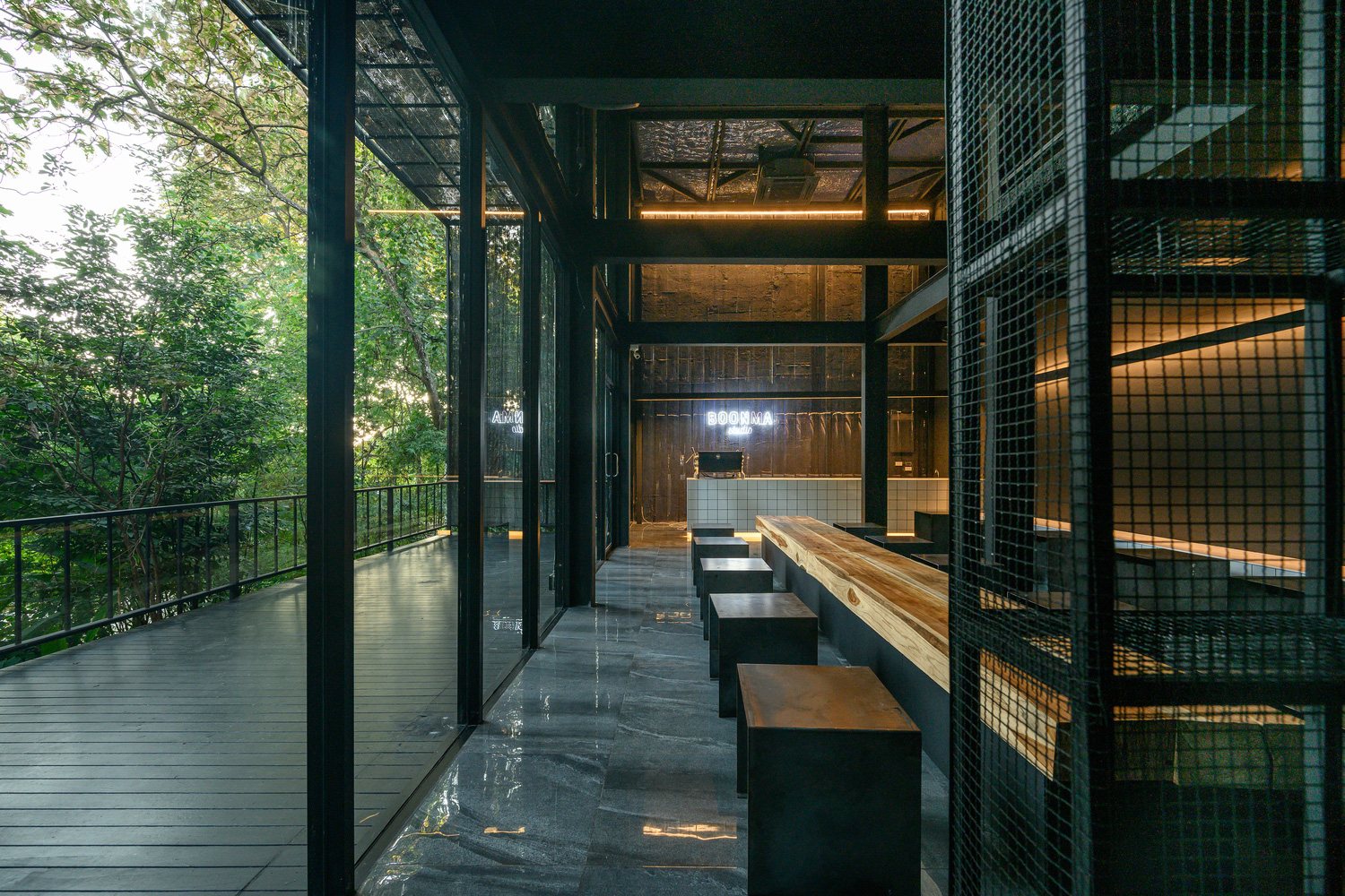 Boonma Cafe is cocooned by private forest in Thailand's Chiang Mai