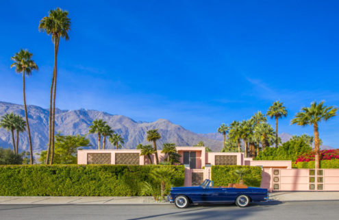 An all-pink house by Albert Frey hits the market in Palm Springs