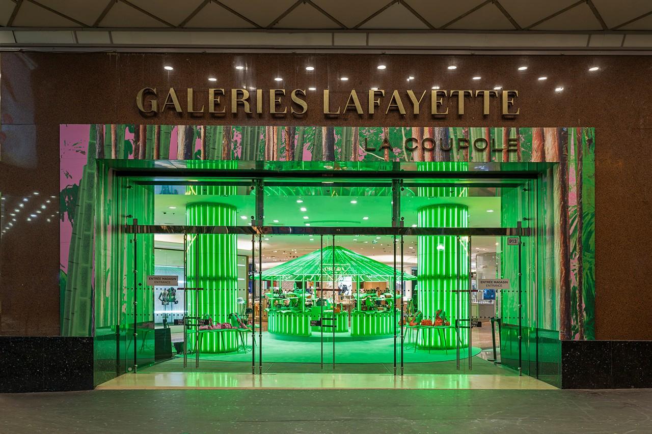 Tropical pavilions spring up inside Paris's Galeries Lafayette courtesy of Prada
