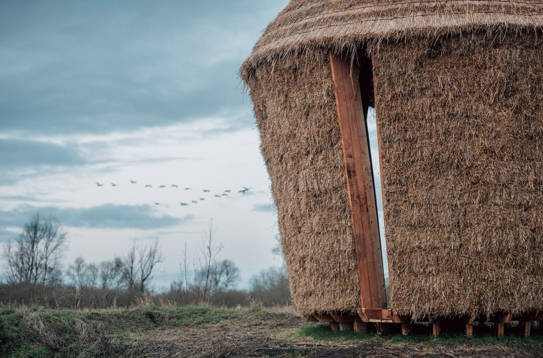 Studio Morison builds a 'spiritual' sanctuary out of straw in Cambridgeshire