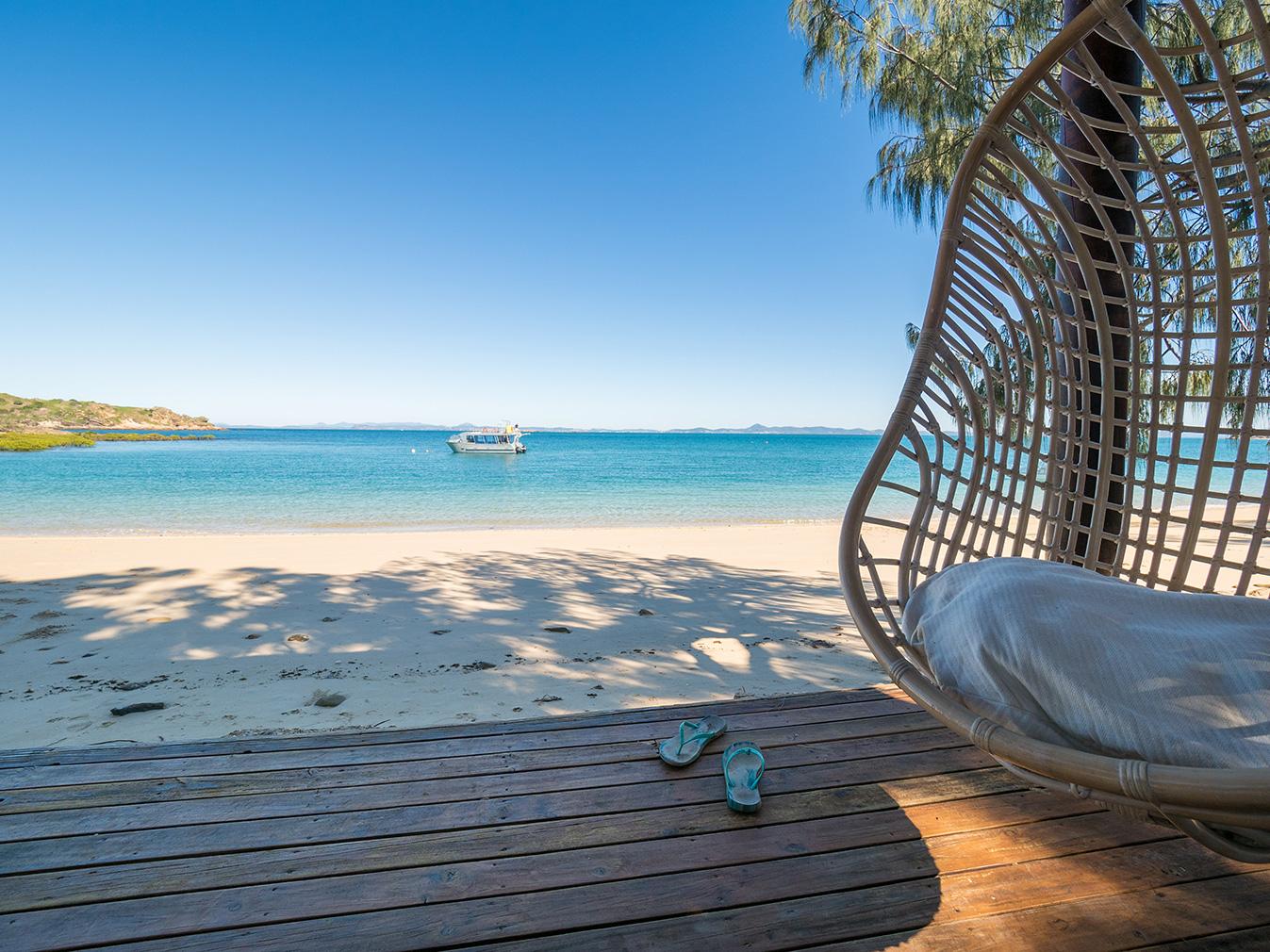 Pumpkin Island lies 14km off the coast of Yeppoon, Queensland, between Brisbane and Cairns. It is for sale via  Knight Frank