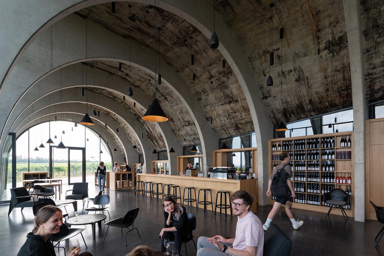 Lahofer winery offers a taste of brutalism in Dobšice