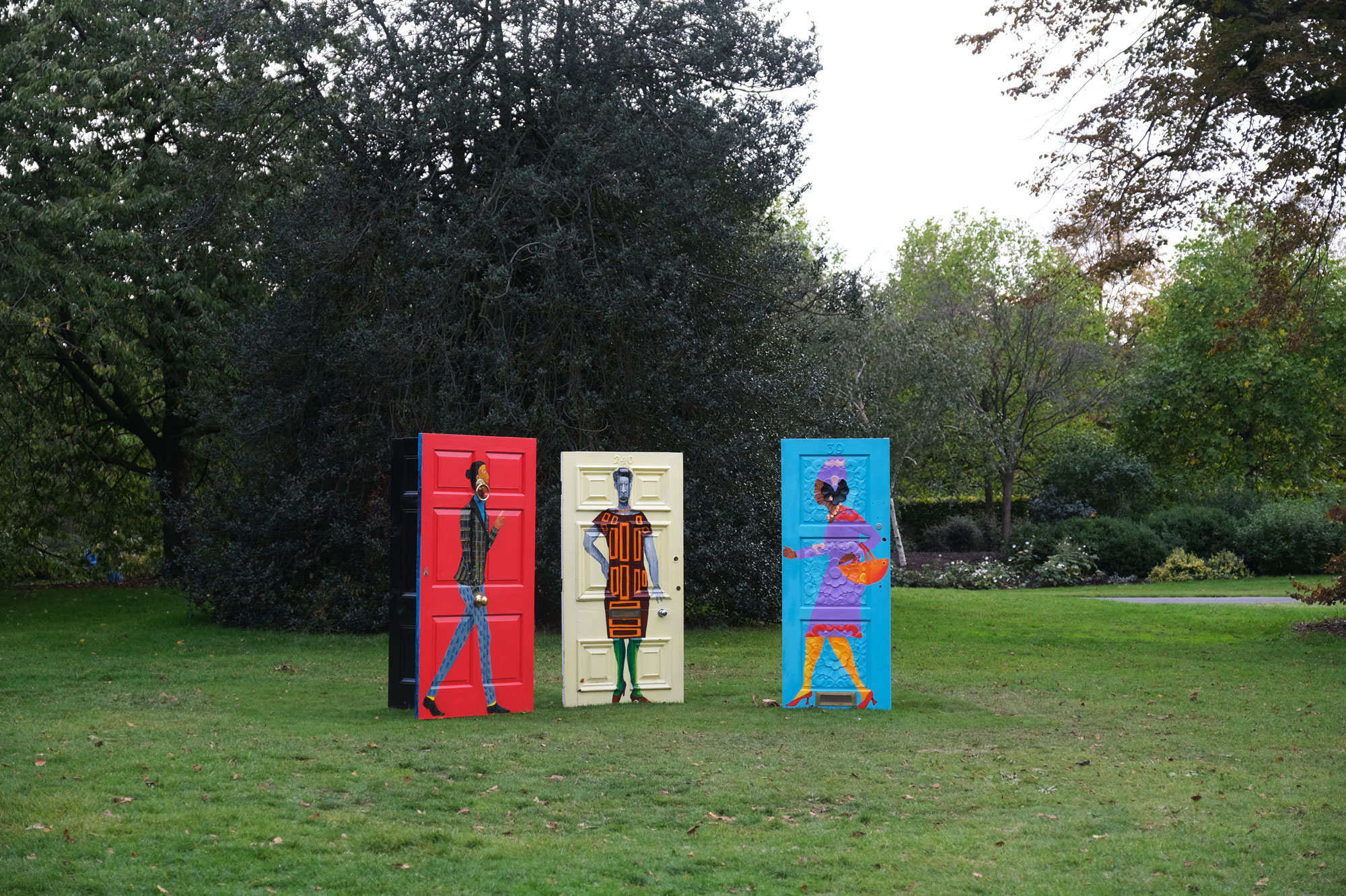 Lubaina Himid, 'Five Conversations (2019'). Hollybush Gardens, Frieze Sculpture 2020. Commissioned by High Line Art, presented by Friends of the High Line and the New York City Department of Parks & Recreation. Photography: Rosella Degori / The Spaces