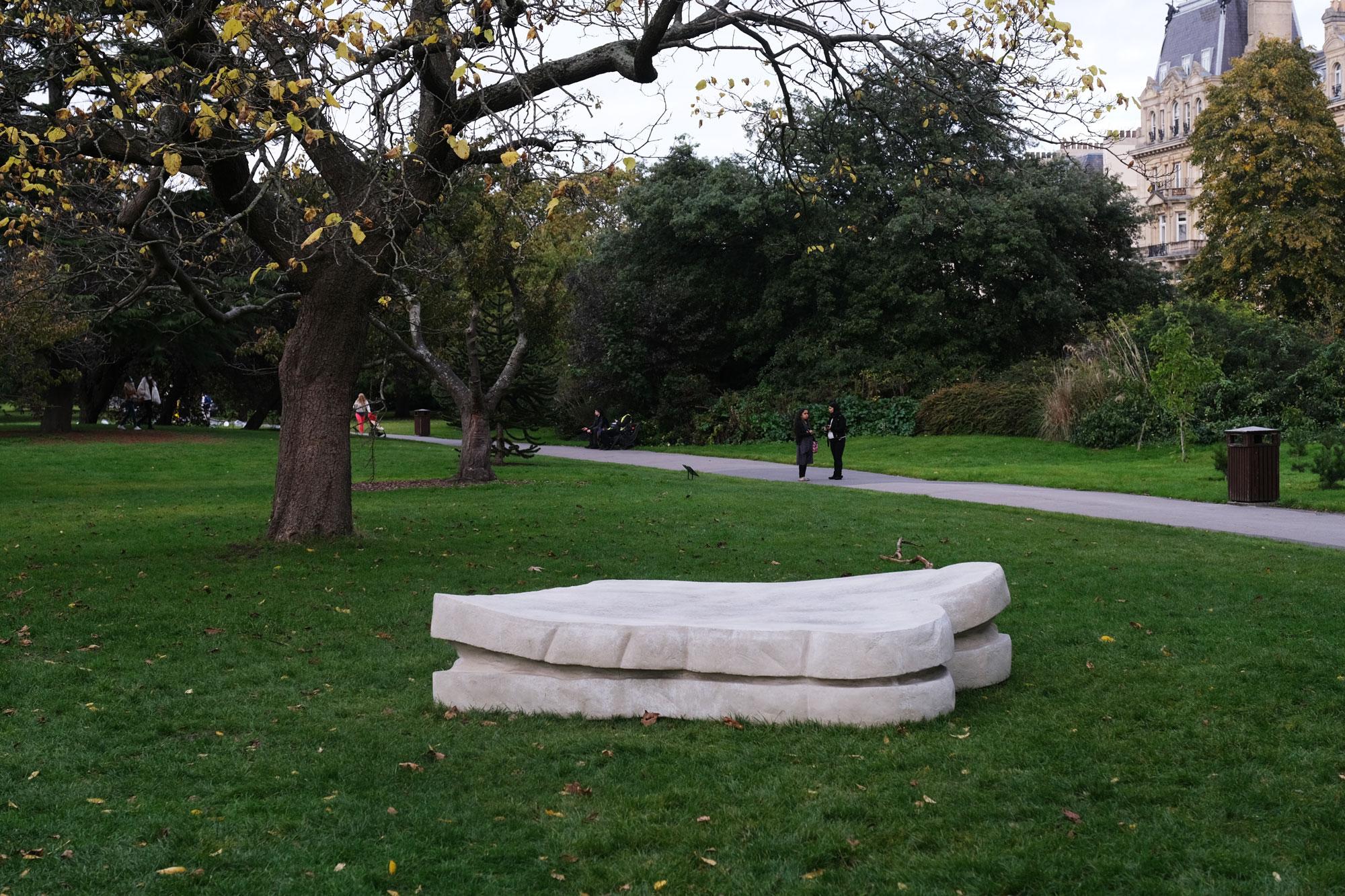 Sarah Lucas, 'Sandwich (2011 – 2020)'. Sadie Coles HQ, Frieze Sculpture 2020. Photography: Rosella Degori / The Spaces