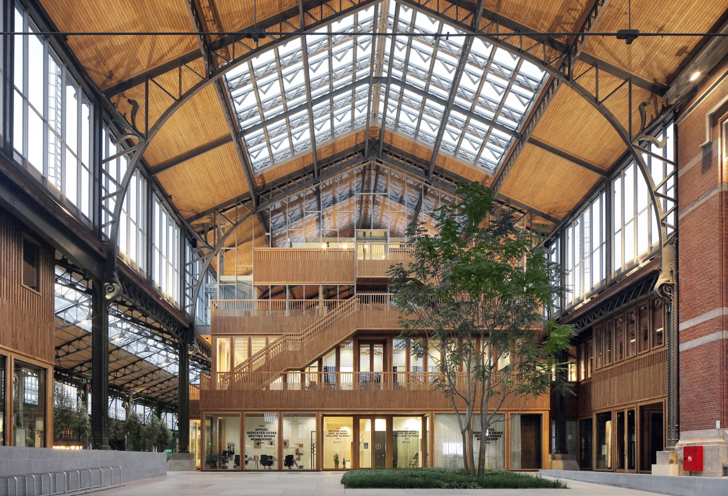 Brussels' 113-year-old Gare Maritime terminus is revived as a new neighbourhood hub
