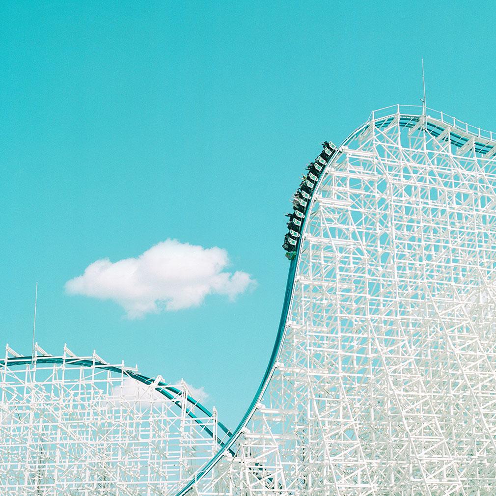 Spaceland rollercoaster in Japan