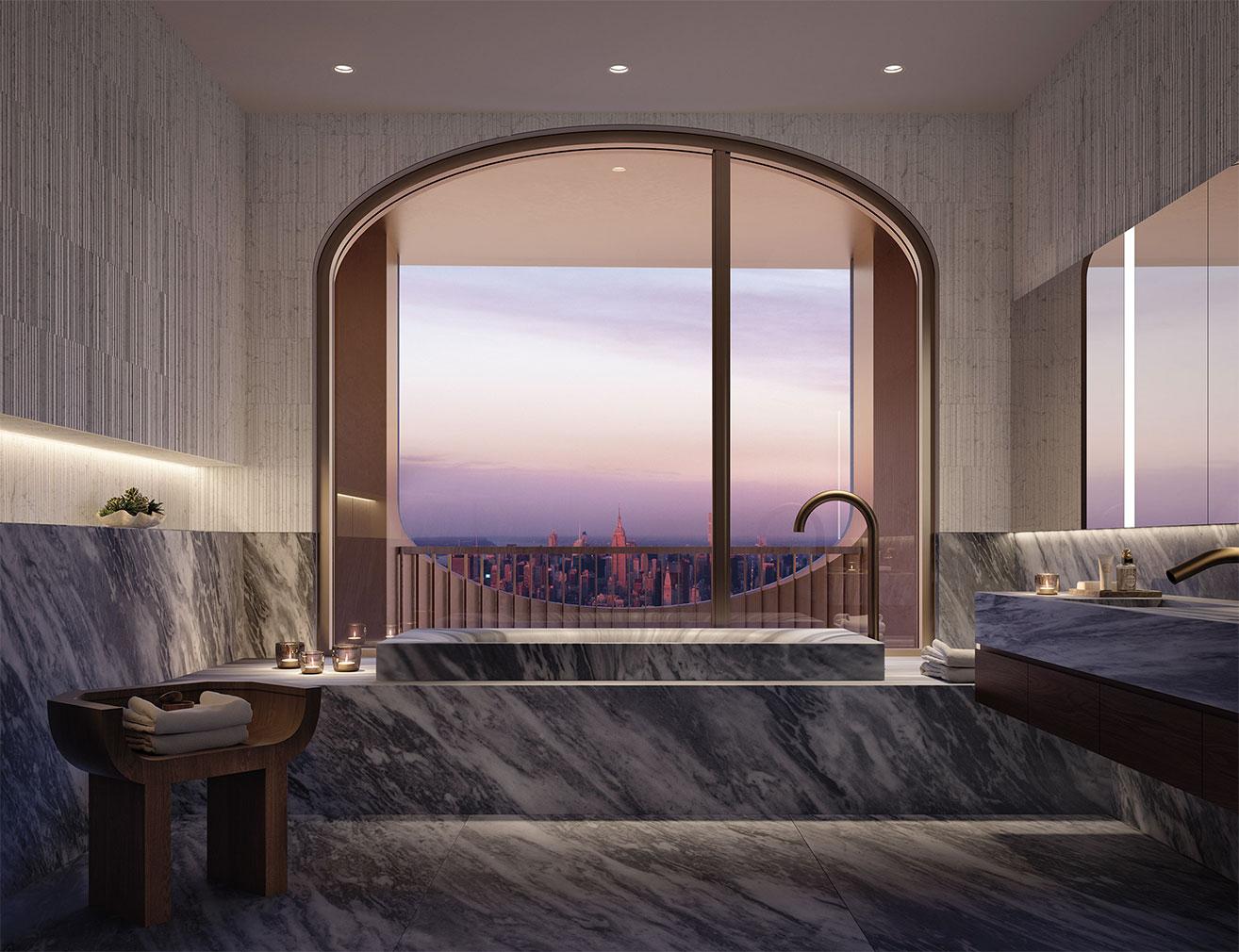 130 William David Adjaye x Aston Martin lavish apartments in NYC
